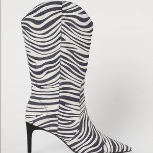 H&M Zebra Print Boots